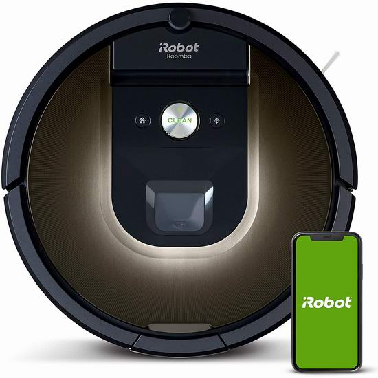 近史低价!iRobot Roomba 981 App控制 智能扫地机器人6折 478.95加元包邮!