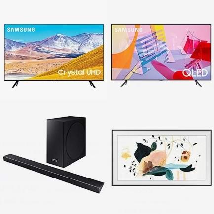 精选多款 Samsung 三星智能电视、条形音箱、电视音响5折起!会员专享!