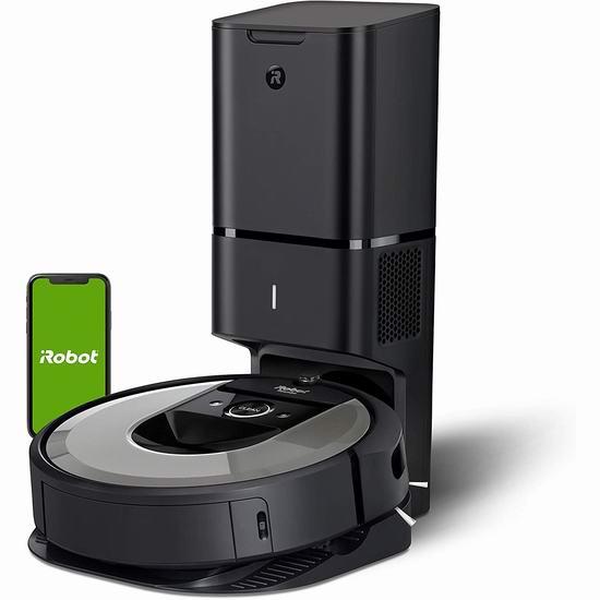 比黑五便宜124.17加元!iRobot Roomba i6+ 6550 智能扫地机器人 675.82加元包邮!带自动集尘充电座,自动倒垃圾!