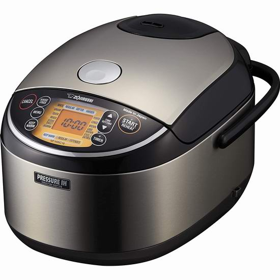 Zojirushi 象印 NP-NWC10XB 5.5杯量 顶级压力炊煮 IH电磁加热电饭煲 469.99加元,原价 569.99加元,包邮
