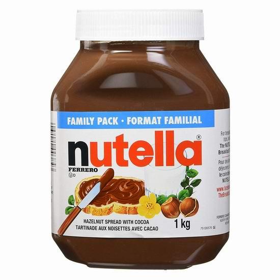 Ferrero Nutella Hazelnut 榛子巧克力酱(1公斤) 5.44加元!