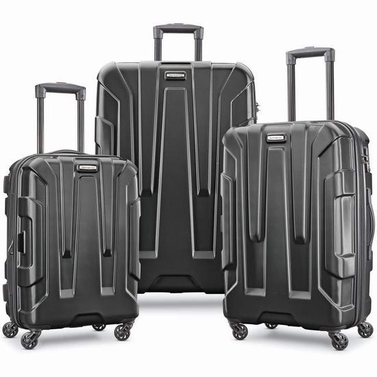 历史新低!Samsonite 新秀丽 Centric 20/24/28寸 全PC超轻 拉杆行李箱3件套3.7折 263.34加元包邮!