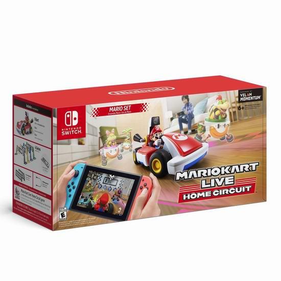 任天堂《Mario Kart Live: Home Circuit -Mario 马里奥赛车》Switch游戏 126.99加元包邮!2款可选!
