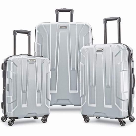 历史新低!Samsonite 新秀丽 Centric 20/24/28寸 全PC超轻 银色拉杆行李箱3件套3.8折 269.14加元包邮!