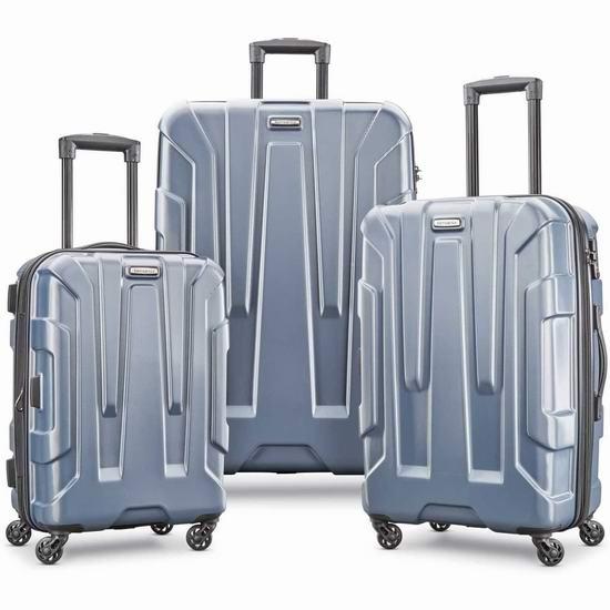 历史新低!Samsonite 新秀丽 Centric 20/24/28寸 全PC超轻 拉杆行李箱3件套3.6折 257.17加元包邮!