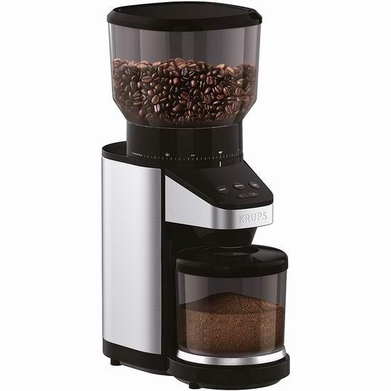 历史新低!KRUPS GX420851 专业39段 咖啡豆研磨机 152.48加元包邮!