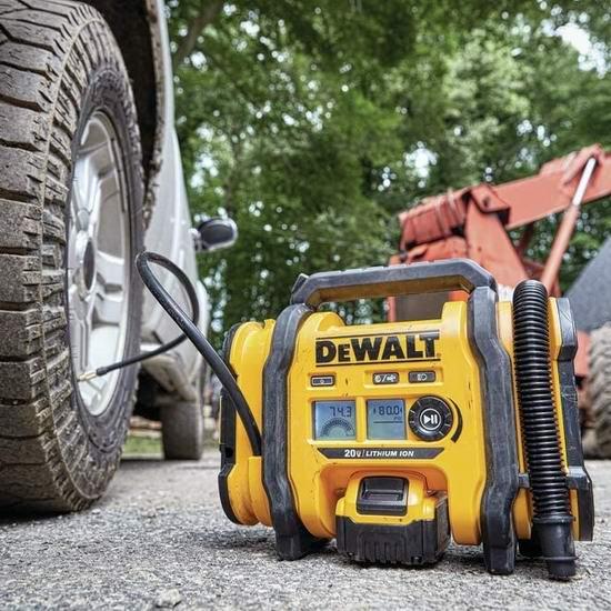 历史新低!DEWALT 得伟 DCC020IB 20V Max 多用途无绳/车载充气泵 119.99加元包邮!