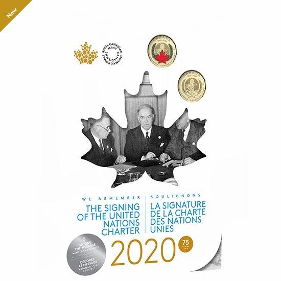 新品 《联合国宪章》签署75周年纪念币7件套 22.95加元包邮!