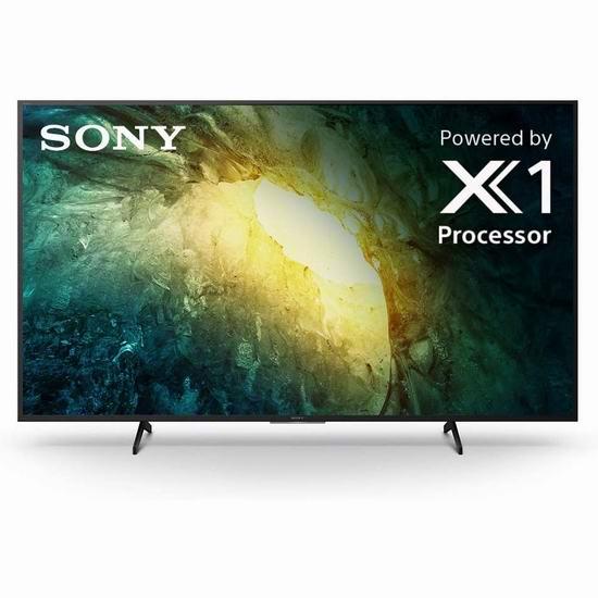 历史新低!新品 Sony 索尼 X750H 65/75英寸 4K HDR 安卓智能电视7.2折 898-1298加元包邮!