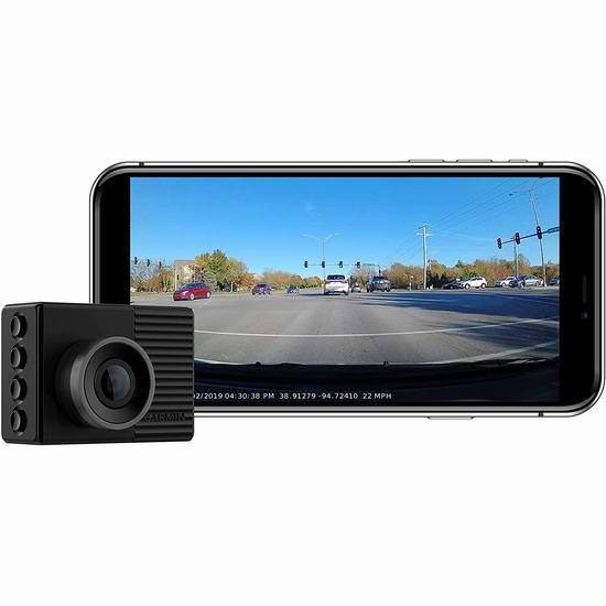 历史新低!Garmin 佳明 Dash Cam 46 全高清广角行车记录仪 168.76加元包邮!支持碰撞及偏离车道预警!