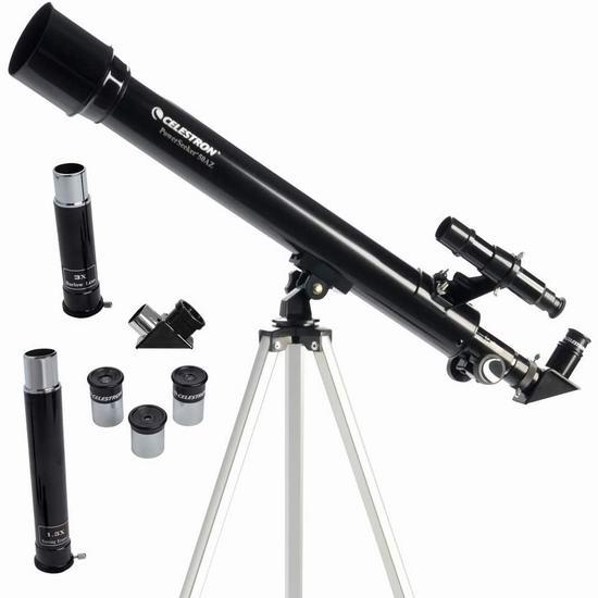 近史低价!Celestron 星特朗 21039 PowerSeeker 50 AZ 天地两用 折射式天文望远镜5折 49.99加元包邮!