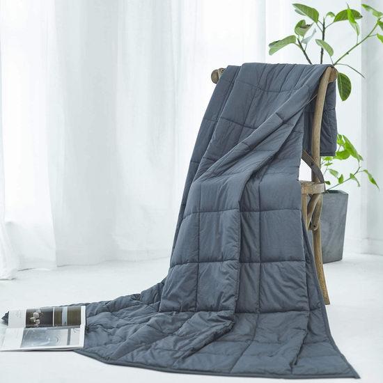 历史新低!RelaxBlanket 60x80英寸 15磅 玻璃珠减压重力被 59.9加元包邮!缓解焦虑助眠神器!