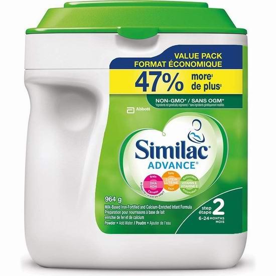 Similac advance step 2 婴儿配方奶粉(964 g) 33.99加元包邮!
