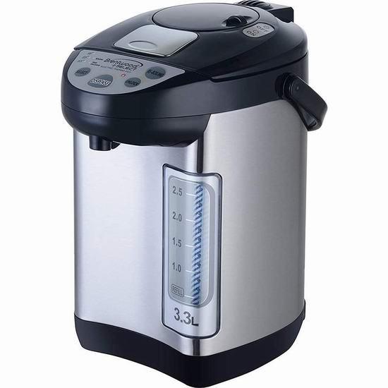 BRENTWOOD KT33BS 3.3升 电热水壶 79.97加元包邮!