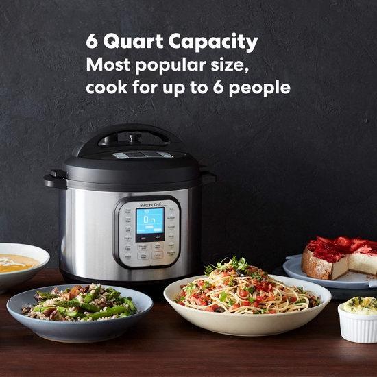 历史最低价!Instant Pot 快煲 Duo Nova 6夸脱 7合一多功能电压力锅 79.97加元包邮!