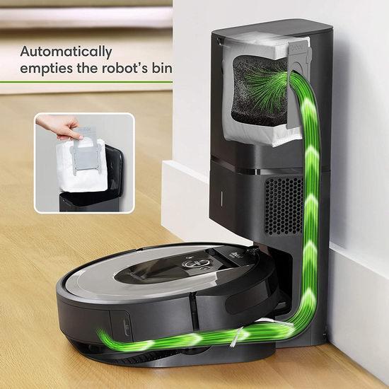 比黑五便宜123.07加元!iRobot Roomba i6+ 6550 智能扫地机器人 676.92加元包邮!带自动集尘充电座,自动倒垃圾!