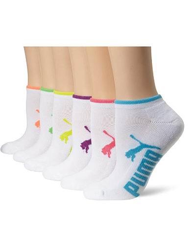 PUMA女士跑步袜 6双 11.05加元(2款),原价 23.4加元