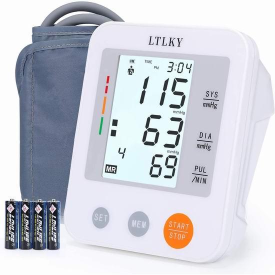 LTLKY 上臂式电子血压计 36.71加元包邮!