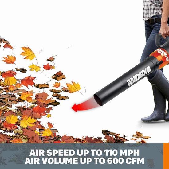 历史新低!WORX WG520 TURBINE 12安培 强动力 吹叶机/吹扫机5.4折 64.97加元包邮!