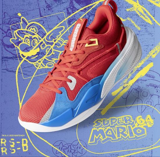 新品上市!PUMA RS-Dreamer Super Mario 64™ 任天堂马力欧限量版篮球鞋 115-135加元包邮!大童版仍有货!