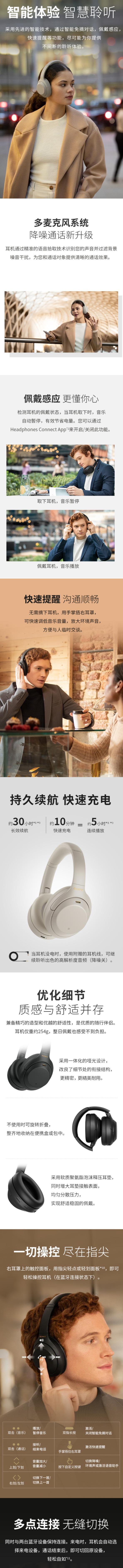 Sony 索尼 WH-1000XM4 高解析度 旗舰级蓝牙降噪耳机 398加元包邮!2色可选!