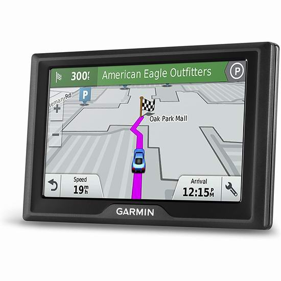 历史新低!Garmin Drive 51 NA LM 5英寸车载GPS导航仪 129.99加元包邮!加美地图终身更新+红灯超速电子眼预警!