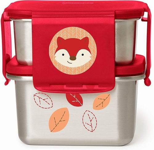 精选3款 Skip Hop 动物图案 不锈钢幼儿双层午餐盒 16加元,原价 23加元
