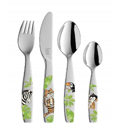 ZWILLING双立人丛林系列 不锈钢儿童餐具4件套  19.99加元,原价 32.99加元