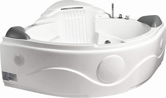 历史新低!EAGO 益高 AM505ETL 按摩冲浪 恒温加热 豪华双人浴缸4.3折 3711.34加元包邮!