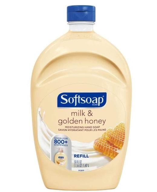 Softsoap 牛奶蜂蜜洗手液 1.47升 4.94加元