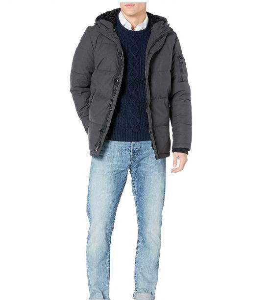 Calvin Klein Sherpa男士保暖夹克 64.7加元(L码),原价 215.99加元,包邮