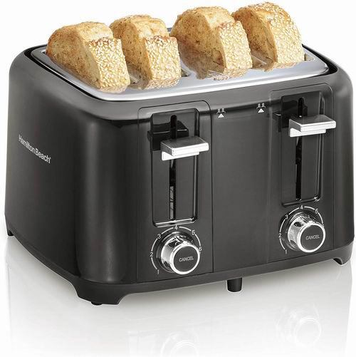 史低价!Hamilton Beach 24217 4片烤面包机 36.24加元,walmart同款价 69.96加元
