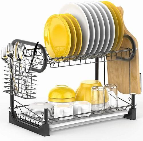 iSPECLE 2层沥水餐具架 36.99-37.99加元(4款可选),原价 47.99加元,包邮