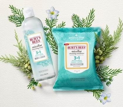 Burt's Bees 小蜜蜂三合一洁肤卸妆湿巾 9.47加元(原价 11.36加元),多种味道可选