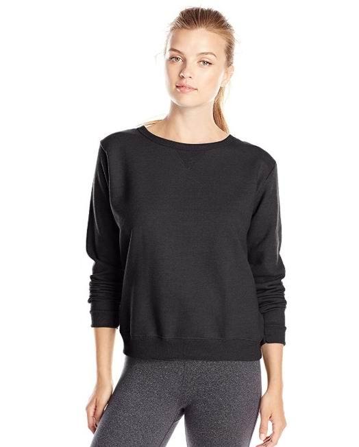 Hanes女士长袖圆领衫 12.99加元(4色),原价 22.77加元