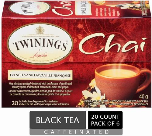 Twinings of London Chai 法式香草茶包 20包 16.8加元,原价 20.35加元