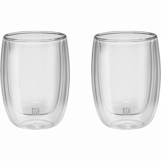 手慢无!Zwilling J.A. Henckels 双立人 Sorrento 200毫升 双层保温玻璃杯2件套4.3折 14.99加元!