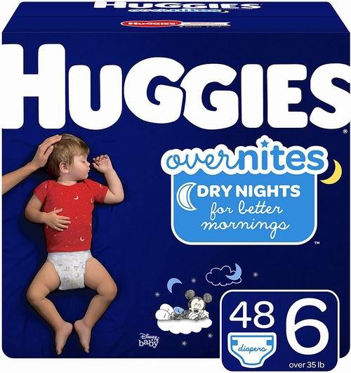 HUGGIES OverNites 婴幼儿纸尿裤 48张 16.97加元(Size 3-6),会员价 15.98加元
