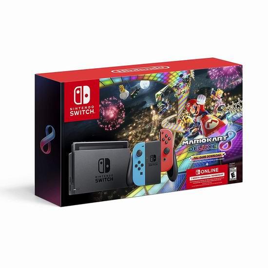 手慢无!Nintendo 任天堂 Switch 便携式游戏机+《Mario Kart 8》套装 399.96加元包邮!