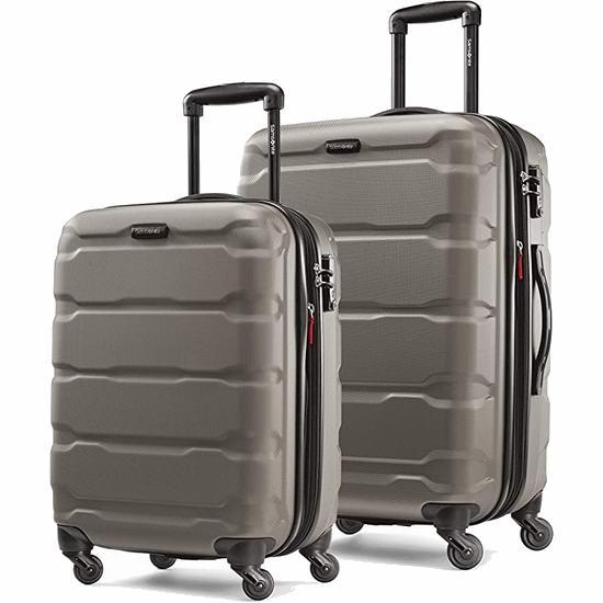 历史新低!Samsonite 新秀丽 Omni 全PC 超轻硬壳 20+24英寸 拉杆行李箱2件套 132.34加元包邮!