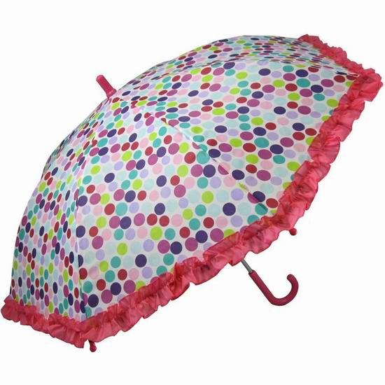 白菜价!RainStoppers 34英寸儿童圆点雨伞2.3折 4.97加元清仓!