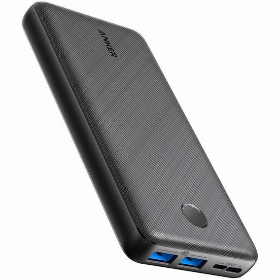 历史最低价!Anker PowerCore Essential 20000mAh USB-C 超便携 智能移动电源/充电宝 33.99加元!