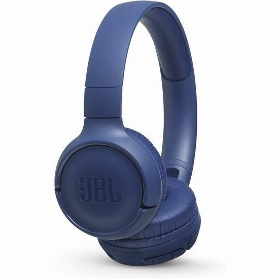 历史最低价!JBL Tune 500BT 头戴式蓝牙无线耳机5折 39.98加元包邮!