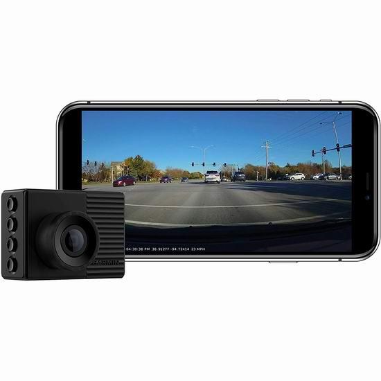 历史新低!Garmin 佳明 Dash Cam 56 GPS 碰撞/红灯/超速预警 智能行车记录仪6.3折 168.99加元包邮!让您远离罚单!