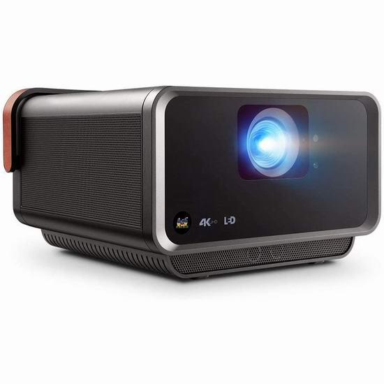 ViewSonic 优派 X10-4KE 4K超高清 智能家庭影院投影机 1686.75加元包邮!在家享受剧院级震撼画面!