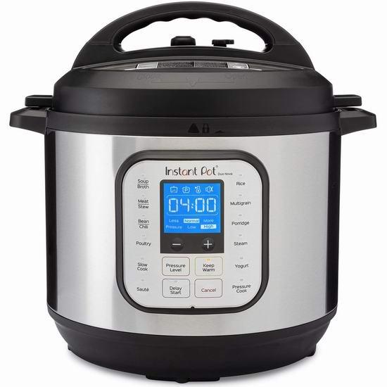 Instant Pot 快煲 Duo Nova 8夸脱 7合一多功能电压力锅5.5折 109.99加元包邮!