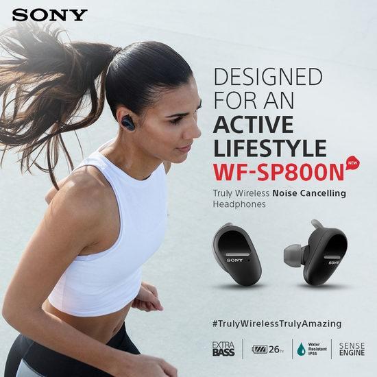 Sony 索尼 WFSP800N 重低音降噪 真无线耳机7.4折 198加元包邮!2色可选!