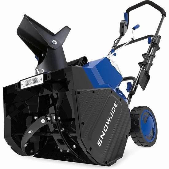 黑五头条:历史新低!Snow Joe 24V-X2-SB18 18英寸 48伏 充电式无绳铲雪机+双锂电套装 381.5加元包邮!仅限今日!