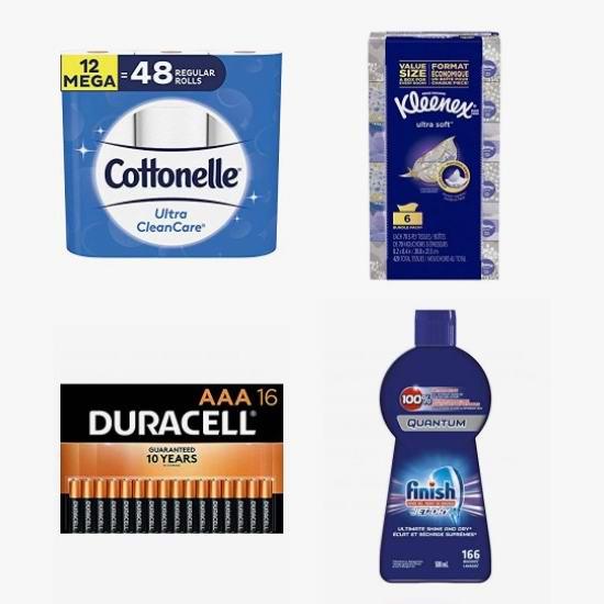 黑五头条:精选 Cottonelle、Kleenex、Duracell、Finish 等品牌卫生纸、面巾纸、电池、洗碗液、洗衣液等日用品5.1折起!