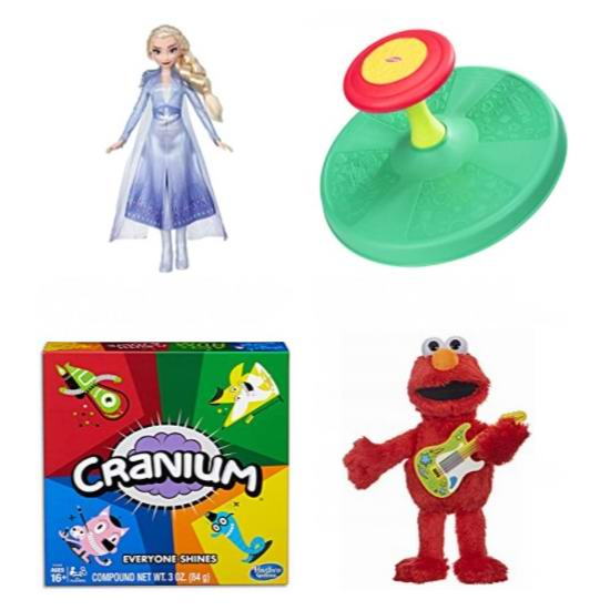 黑五头条:精选 Hasbro 孩之宝 儿童益智玩具、玩偶、棋牌游戏等6折起!